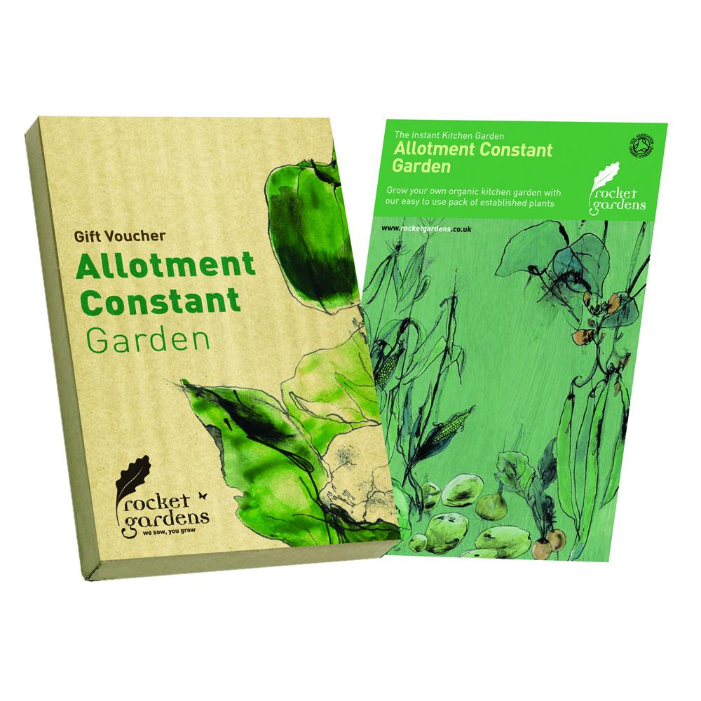 Large year round veg patch gift voucher rocket gardens for Gardening gift vouchers