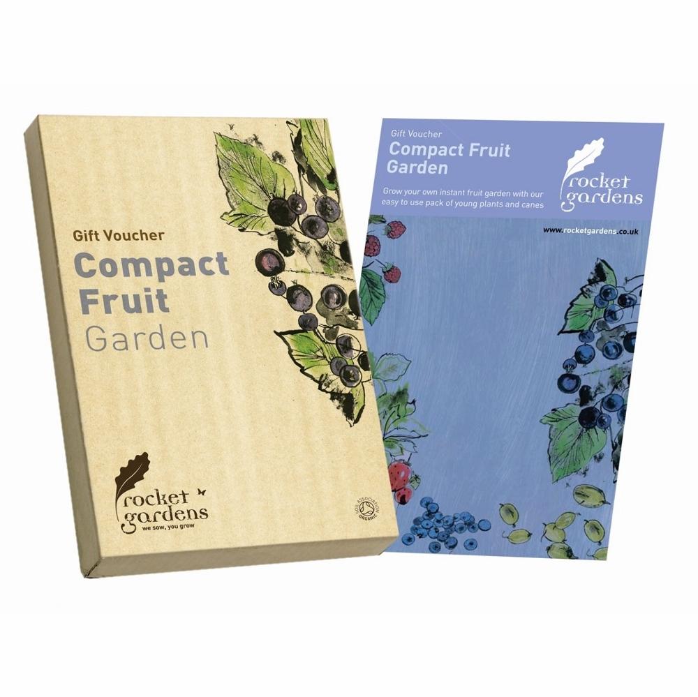 Compact fruit garden gift voucher rocket gardens for Gardening gift vouchers