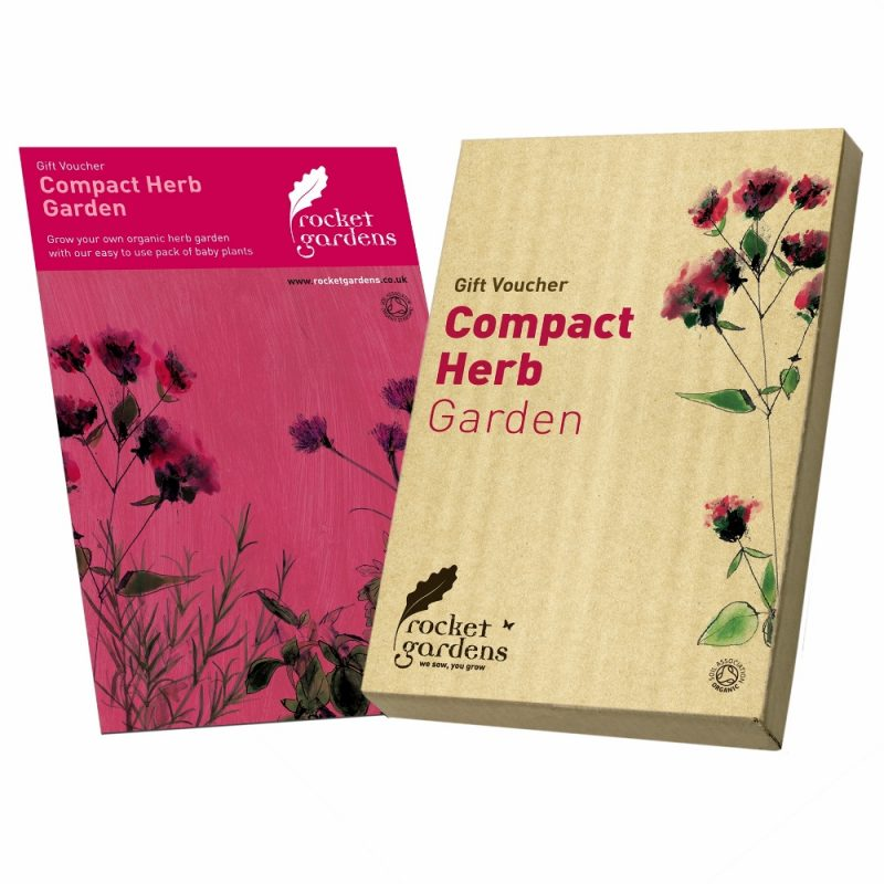 Compact herb garden gift voucher rocket gardens for Gardening gift vouchers