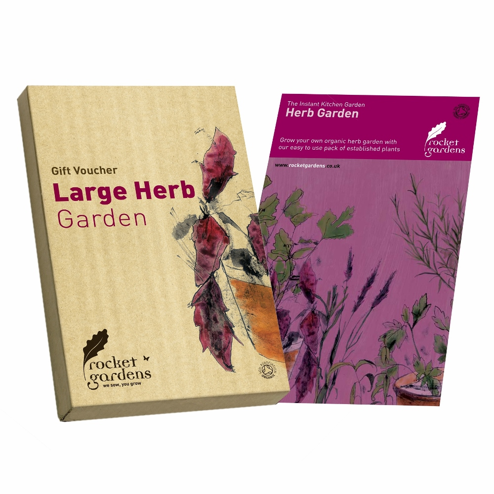 Herb garden gift voucher rocket gardens for Gardening gift vouchers