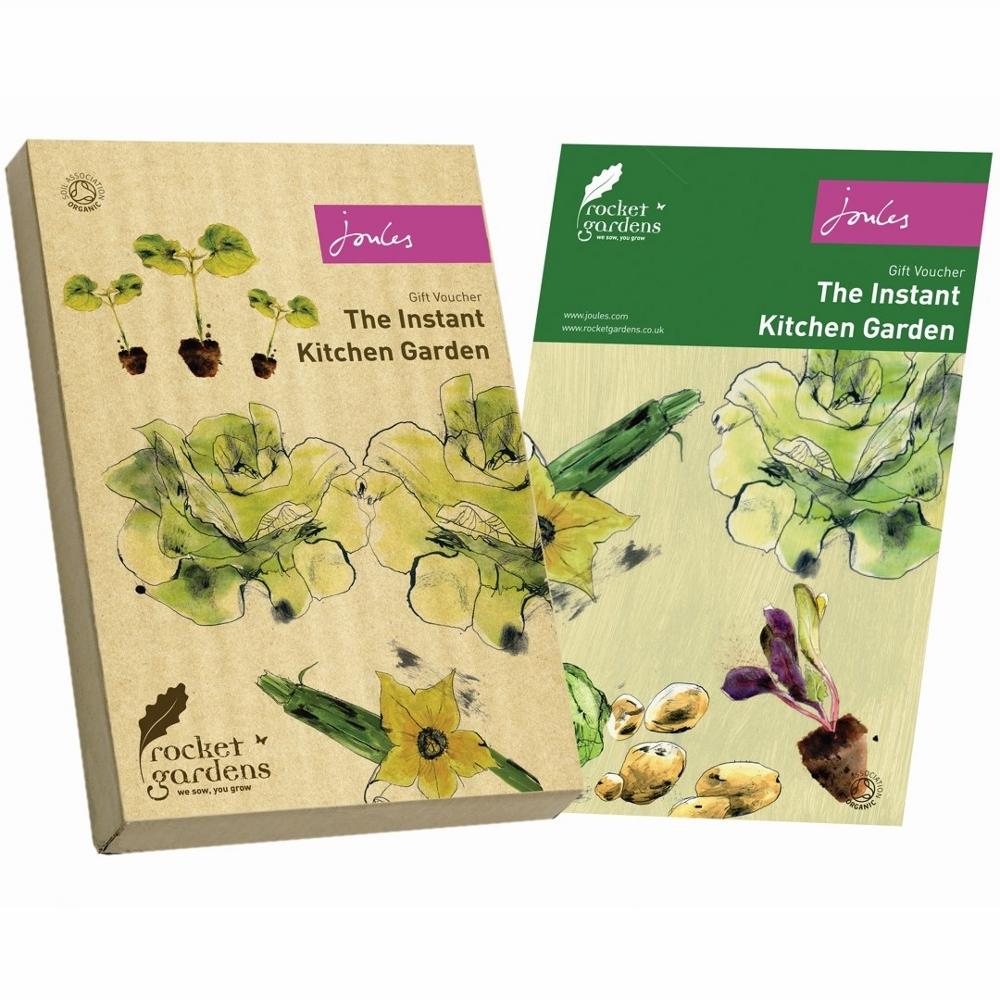 Joules kitchen garden gift voucher rocket gardens for Gardening gift vouchers