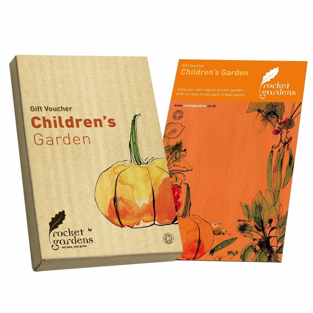 Childrens garden gift voucher rocket gardens for Gardening gift vouchers
