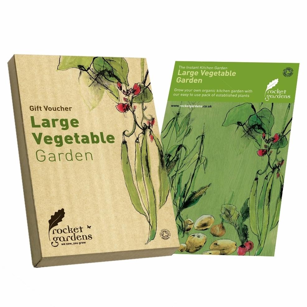 Large vegetable garden gift voucher rocket gardens for Gardening gift vouchers