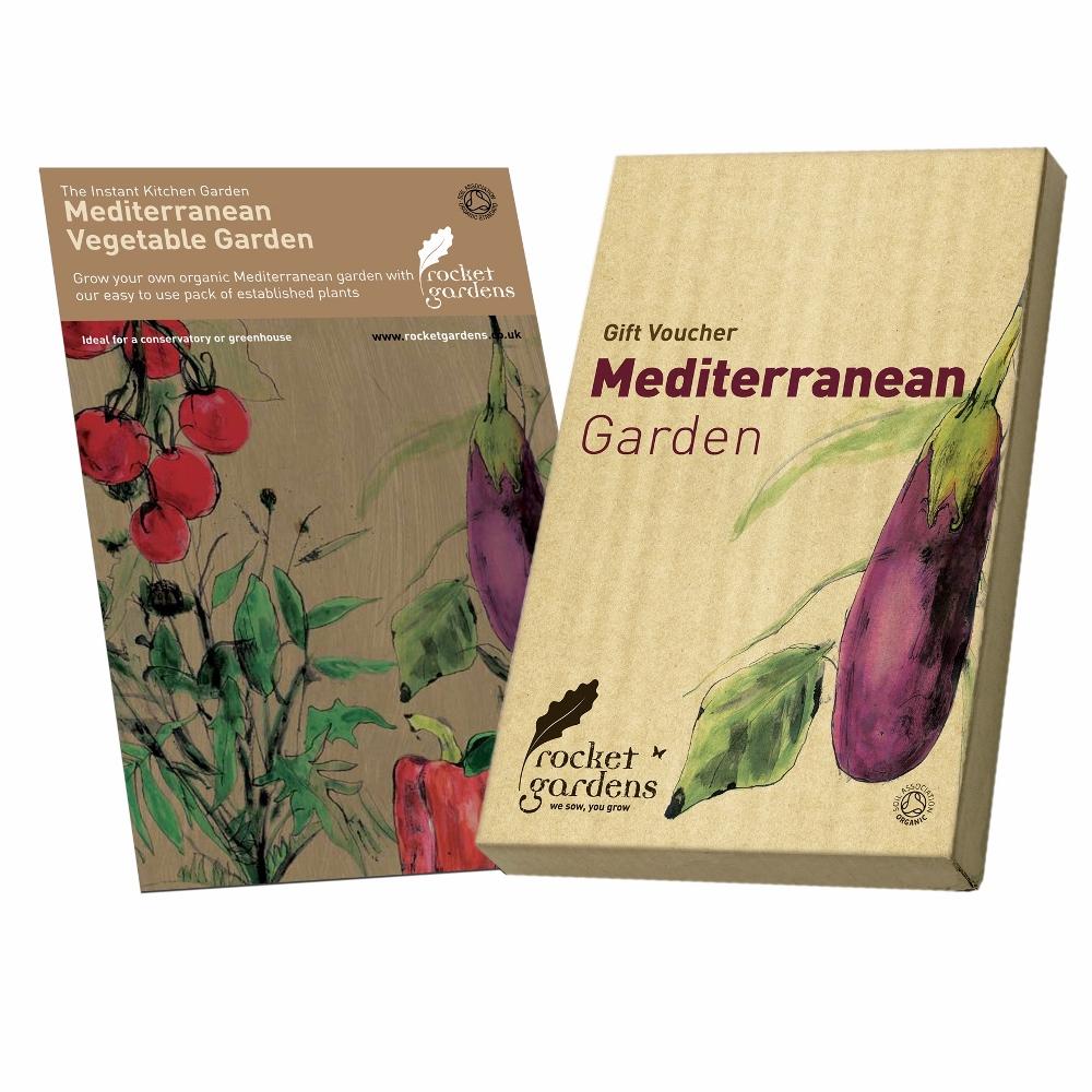Mediterranean garden gift voucher rocket gardens for Gardening gift vouchers
