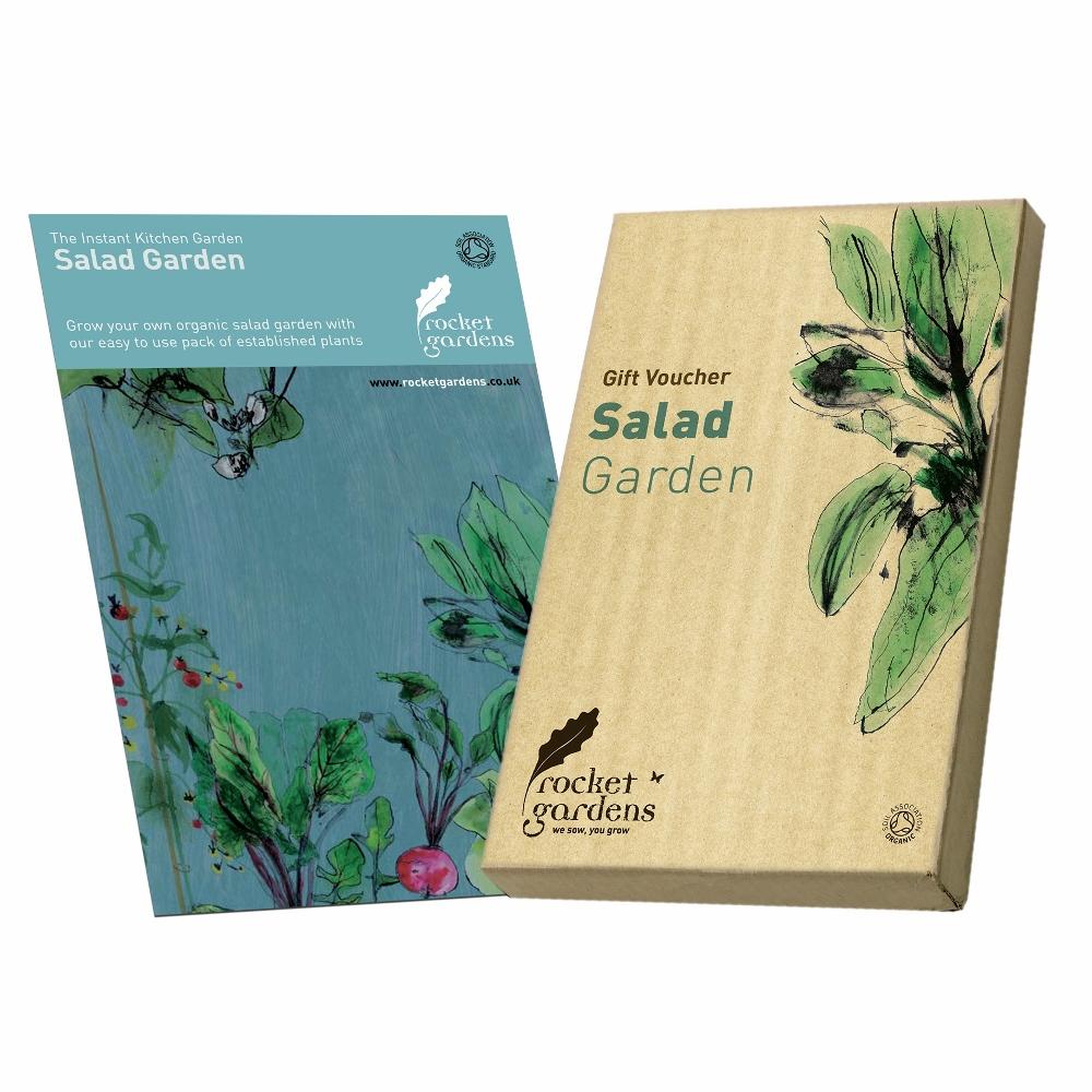 Salad garden gift voucher rocket gardens for Gardening gift vouchers