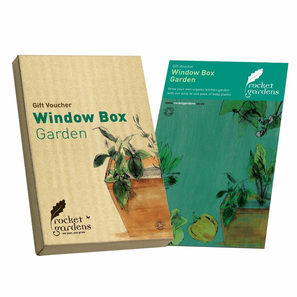 Window box garden gift voucher rocket gardens for Gardening gift vouchers