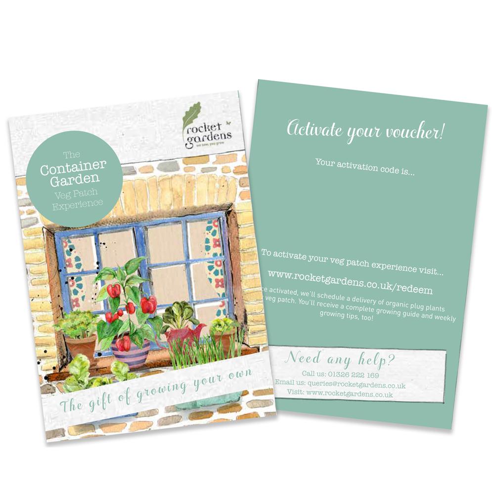 Container garden veg patch experience gift voucher for Gardening gift vouchers
